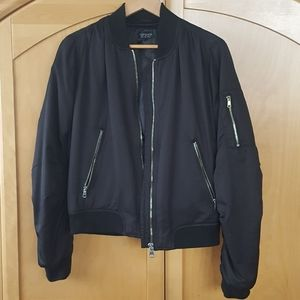Black gold hardware ma1 black bomber topshop